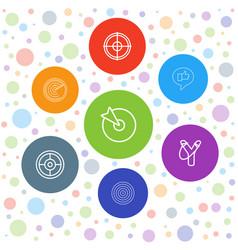 7 aim icons vector