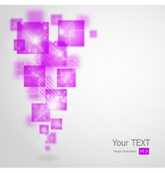 Abstract background with square shapes vector