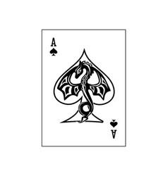 Ace spades dragon vector