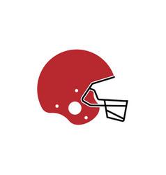 American football helmet icon design template vector