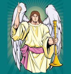Archangel gabriel icon vector