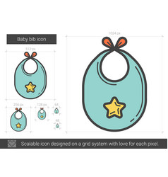 Baby bib line icon vector