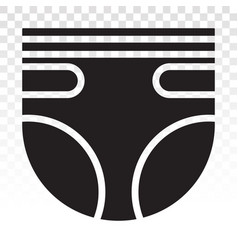 Baby diapers adult diaper nappy flat icon vector