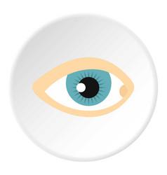 Blue human eye icon circle vector