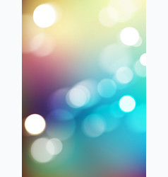 Bokeh light with blurred colors background vector