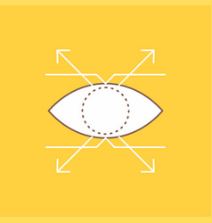 business eye look vision flat line filled icon vector image