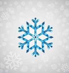 Christmas snowflake of geometric shapes vector image