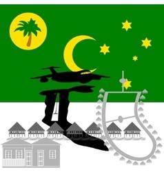 Cocos Islands vector