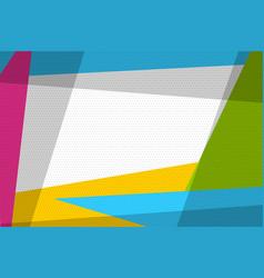 comic book geometric pop art retro background vector image