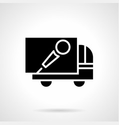 Concert advertising car glyph style icon vector