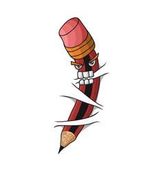 crazy pencil vector image