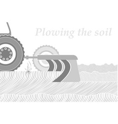 Cross-section of the soil in the place of plowing vector
