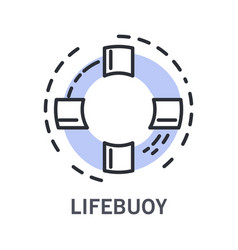 cruise and life buoy marine symbol life saver vector image
