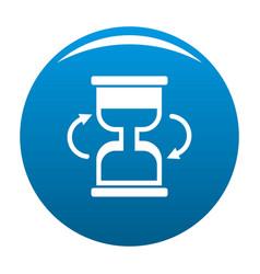 Cursor loading icon blue vector