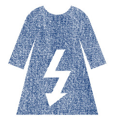 Electric woman dress fabric textured icon vector