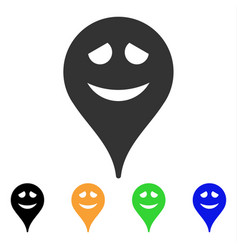 Embarrassment smiley map marker icon vector