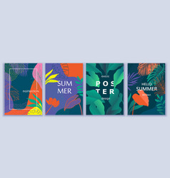 exotic summer colorful backgrounds with tropic vector image