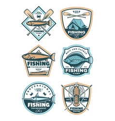 Fishing sport icons set vector