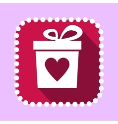 Gift Boxwith Heart Shape Icon vector image