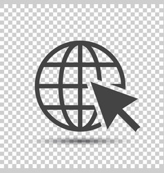 go to web icon internet flat for website on vector image