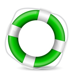 green buoy vector image