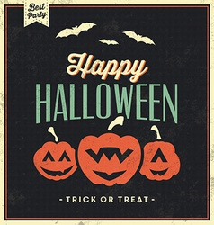 Happy Halloween Vintage Typographic Template vector