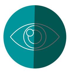 human eye optical vision design icon circle vector image