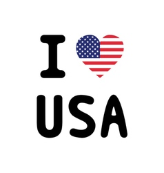 I LOVE USA3 vector image