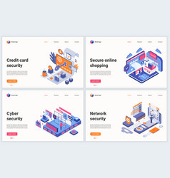 isometric cyber security technology vector image