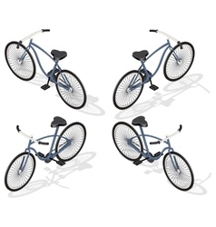 Isometric retro bicycle vector image