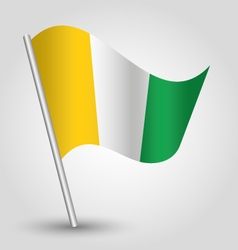 Ivory coast flag on pole vector