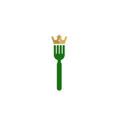 King food logo icon design vector
