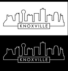 knoxville skyline linear style editable file vector image