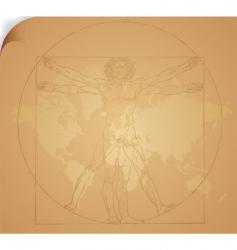 Leonardo da Vinci art vector image