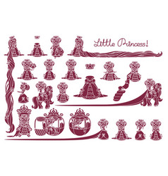 Little princess collection vector