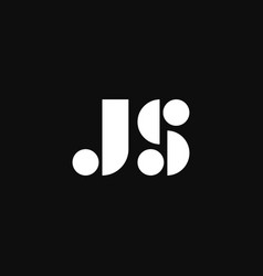 Logo letters js elegant shapes vector