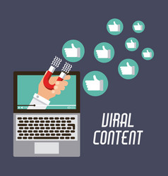 Marketing viral content attraction campaign vector