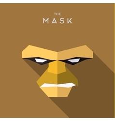 Mask flat Hero Villain superhero style icon vector image