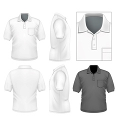 Mens polo-shirt design template vector image