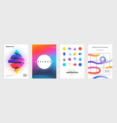 minimal cover abstract geometric music posters vector image