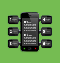 Mobile phone infographics vector