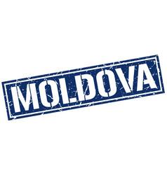 Moldova blue square stamp vector