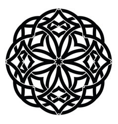 ornament decorative celtic knots and curls vector image