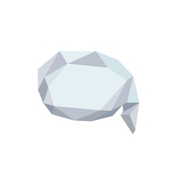 Polygonal Bubble Icon with geometrical figures vector image