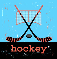 Poster for hockey vector