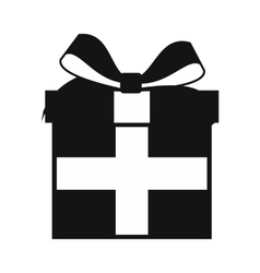 Present box simple icon vector image