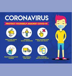 Protect yourself against coronavirus covid-19 vector