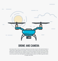 Quadcopter line vector