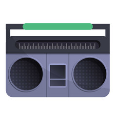 retro boom box icon cartoon style vector image