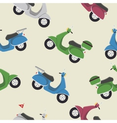 retro vintage seamless scooter pattern vector image